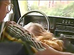 Dutch street whore serves customer in his car
