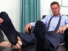 Lihaksen homo jalka cumshot