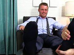 Muscle pé gay com Ejaculação