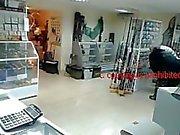 crazy webcam girl at work
