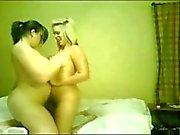 2 Cute Fat Chubby oiled Teens rubbing their plump bodies