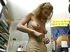German amateur lady paid to do a porn scene Sascha Production