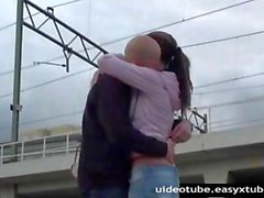 Extreme Public Sex By The Railway