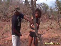 Wilde Fick Orgie mit afrikanischen Babe