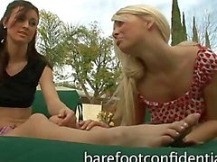 Karlie Montana and Jana Jordan footplay