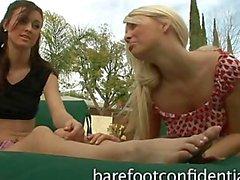 De Karlie Montana y Jana Jordanía Footplay Posiciones
