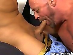 Twink sex Blade is more than happy to share his lad meatpipe