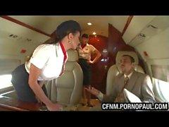 Guy fucks air stewardess on plane