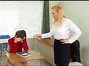 Naughty schoolgirl gets a spanking