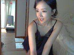 Korean girl stripping on cam