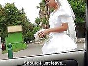 Dumped bride Amirah Adara outdoor fuck