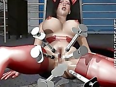 Schlampe 3D Hentai Huren wird gefickt