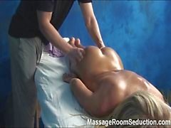 Girl seduced in massage room