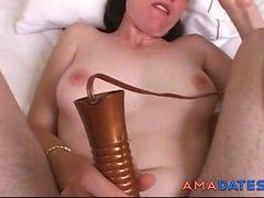 kıllı kadın anal & Creampie