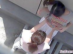 Tesão asiático adolescentes dedo