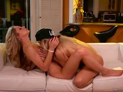 Cute Lesbians Goldie Rush And Rachel James