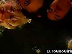 Group of bukkake German sluts showered in cum