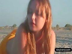 Caldo pippa in spiaggia con i gallo fame vasca di Ivana