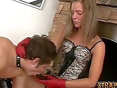 Mistress Tanya And Strapon Slave