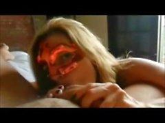 Amador Masked Babe POV cocksucking