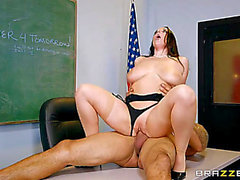 Angela White fearsome-fearsome Parent Fucking Teacher Meetings fearsome-threatening Large Wobblers At School HD Porn Vids