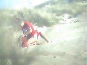 VOYEUR ON THE BEACH 23 couple fuck on the beach