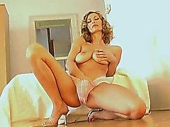 Marvelous large titties hotty underware striptease