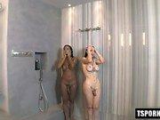 Hot Transvestiten Dreier mit abspritzen
