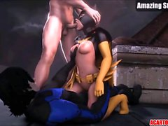 Naughty Arkham babes fucked hard after blowjobs