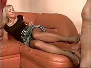 Sexy Wife pantyhose footjob 3 part 1