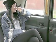 Petite European fucked hardcore by the taxi driver