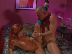 Round titted redhead Kirsten Price gets humped