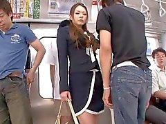 Underbara japanska Babe ha sex i tåget genom airliner1