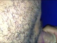 Gloryhole hungry guy sucks cock and steals the condom to drink the cum