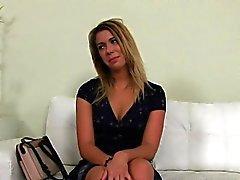 Grande butin blonde amateur fille branle la coulée