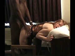 Wife dominated by black cock