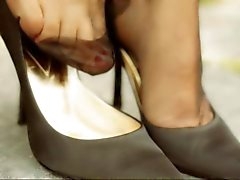 super reizvolle rht Nylon Beinen