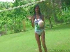 a Karla tetas al aire