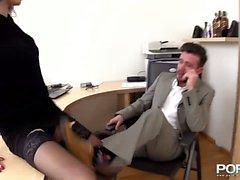 Abusare di la tua segretaria Anal profondo e duro