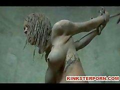 Außen für BDSM Mud Sklaven Disgrace