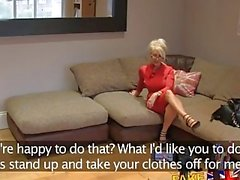 FakeAgentUK Massive facial for hot blonde MILF