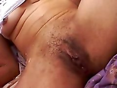 Ebony bitch is shaved and fucked