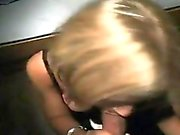 Beautiful blonde girl blowjob