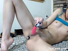 My wife on Webcam Toys