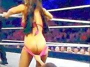 Международной федерации рестлинга Diva Роса Мендеш задница подверженные в прямом телеэфире