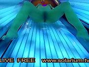 Solarium Cam hot Horny Girl Masturbation solarium