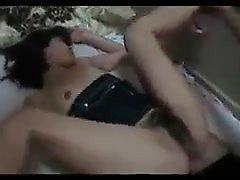 Cute teen brunette amateur strips off her panties