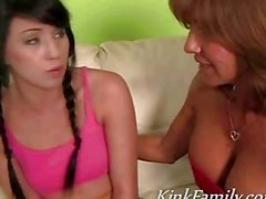 Freaky milf invites daughter to join threeway