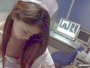 Enfermeira asiática que chega a mamar adn de fuck the pacientes