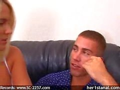 Her First Anal wife forced by money